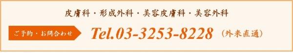ご予約・お問合せ Tel.03-3253-8228 (外来直通)